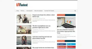 একদম ফ্রিতে ডাউনলোড করে নিন Fastest Premium Blogger Template ফুল ভার্সন