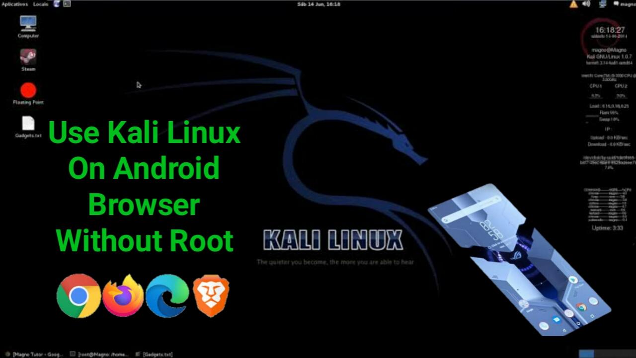 [ Kali1.0.6 ] জনপ্রিয় হ্যাকিং টুল কালি লিনাক্স ব্যবহার করুন আপনার ফোনের ব্রাউজার দিয়ে 🔥 | Use Kali Linux On Android Without Any File Install | No Root Required