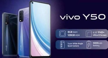চীনা স্মার্টফোন কোম্পানি Vivo তাদের Y সিরিজের নতুন ফোন লঞ্চ করলো।৫০০০ mAh ব্যাটারির সাথে বাজারে এল Vivo Y50