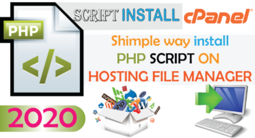 how to install script on cpanel 2020 । Php script and Database to Hosting ।
