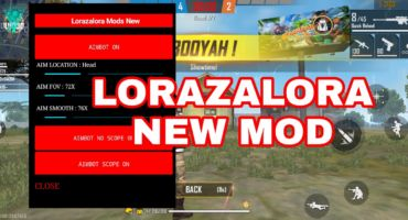 LORAZALORA NEW FREE FIRE MOD MENU / AUTO HEADSHOT/ AIMBOT / LOCATION LASER LITE / ESP BOX HACK MORE