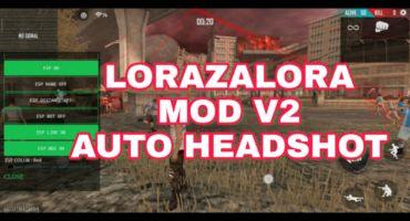 FREE FIRE LORAZALORA MOD MENU. v1.48.X Auto Headshot /Unbanned Device