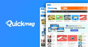 [🔥হট অফার] Quick Mag Magazine Premium Blogger Template নিয়ে নিন একদম ফ্রিতে [Sponsored By Destroyer Theme]
