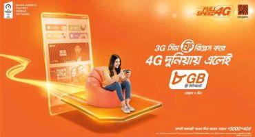 Banglalink সিমে ফ্রিতে 8GB ইন্টারনেট নিয়ে নিন। (শর্ত প্রযোজ্য)