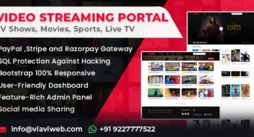 [🔥হট অফার] নিয়ে নিন একদম ফ্রিতে Video Streaming Portal (TV Shows, Movies, Sports, Videos Streaming, Live TV) [NULLED]