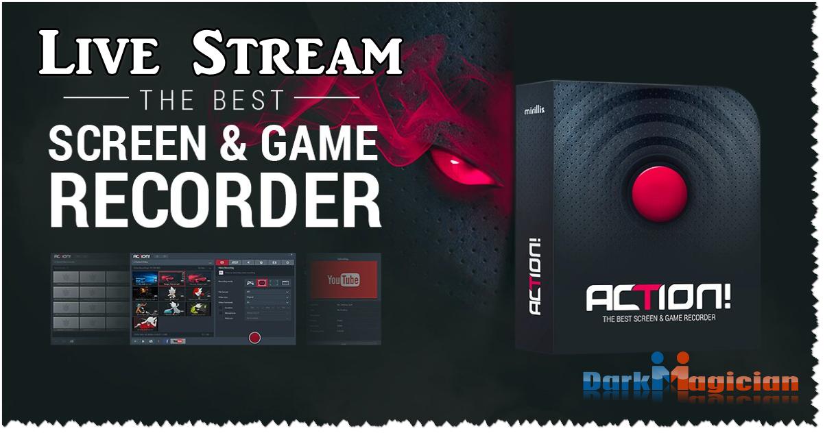 Action – Live Stream 4K করার জন্য বেস্ট সফটওয়্যার Low Requirement পিসির জন্য