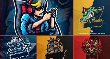 ডাউনলোড করে নিন Top 5 Gaming Mascot Logo No Text