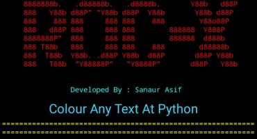 [ROC-X:09] এখন থেকে আপনি ও Python প্রোগামিং এ নিজের ইচ্ছে মত Colour ব্যবহার করতে পারবেন। [With 56 Colour Codes]