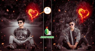 Snapseed Fire Heart Photo Editing | Snapseed Photo Editing Trick | Snapseed Background Colour Chenge
