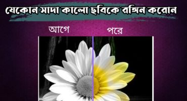 সাদা কালো যেকোন ছবিকে রঙ্গিন করুন মাত্র কয়েক সেকেন্ডে।