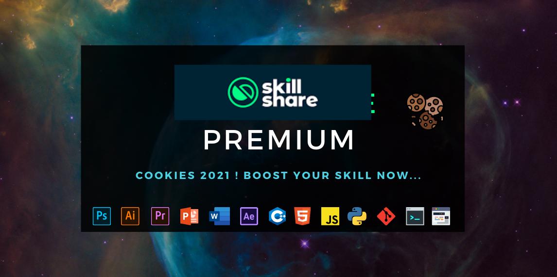 SkillShare Premium Cookies,আপনার স্কিল Develop করুন SkillShare এর মাধ্যমে