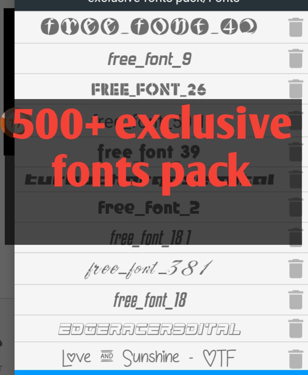 ফ্রিতে নিয়ে নিন 500+ exclusive fonts pack