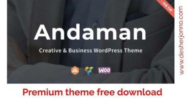 Andaman pro  WordPress theme free download | ক্রিয়েটিভ ডিজাইনের ওয়ার্ডপ্রেস থিম