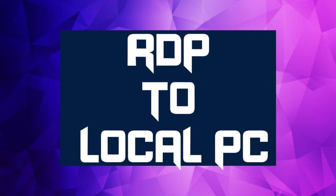 Local PC থেকে RDPতে  File Transfer Process