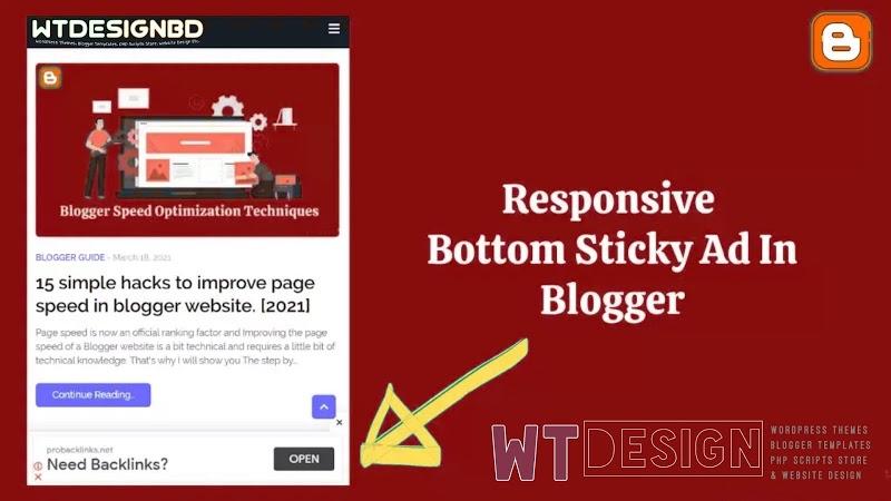দেখে নিন WordPress এবং Blogger ওয়েবসাইট এ Adsense দ্বারা দ্বিগুণ ইনকাম করার জন্য কিভাবে Sticky Footer Ads তৈরি করবেন!