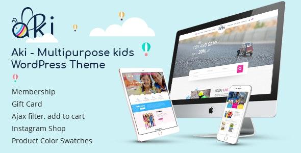 Aki – Multipurpose Kids WordPress Theme for free download