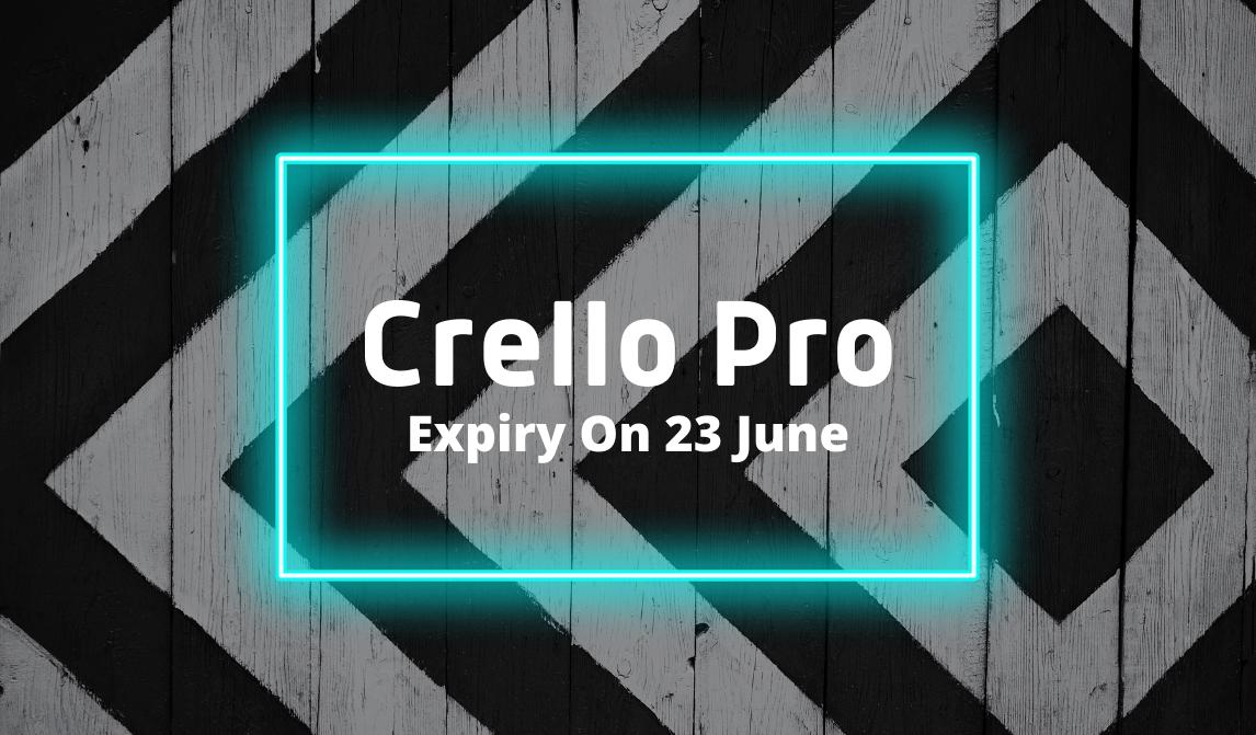 Crello Pro, গ্রাফিক্স ডিজাইন করুন আরও সহজে Expiry On 23 June