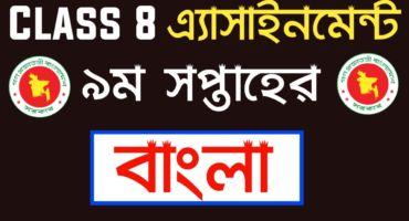 অষ্টম শ্রেণির বাংলা এ্যাসাইনমেন্ট ২০২১ | Class 8 Bangla assignment 2021 9th Week