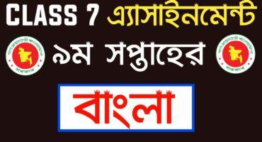 Class 7 Bangla assignment 2021 9th Week | সপ্তম শ্রেণির বাংলা এ্যাসাইনমেন্ট ২০২১