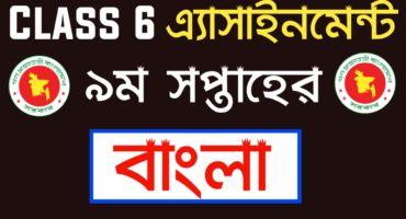 Class 6 Bangla assignment 2021 9th Week | ষষ্ঠ শ্রেণির বাংলা এ্যাসাইনমেন্ট ২০২১