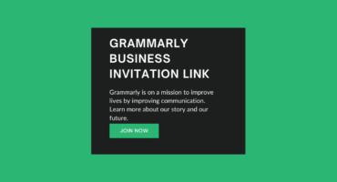 ফ্রি Grammarly Busniess Account [ Invitation Link ]