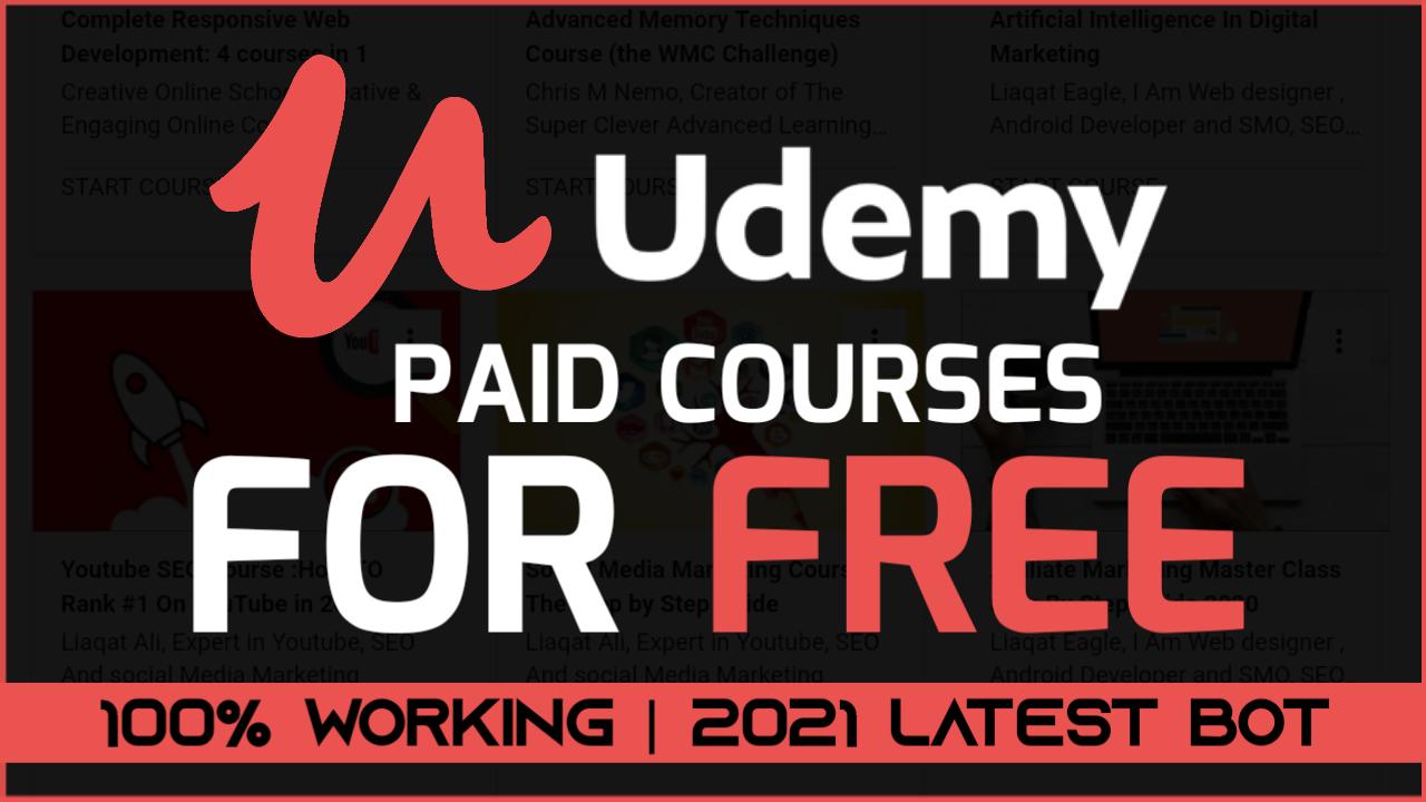 FREE ENROLL করুন UDEMY এর পেইড কোর্স💥| ENROLL UDEMY PAID COURSES FULLY FREE 2021🔥