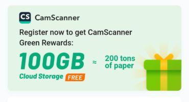 CamScanner এ ফ্রিতে ১০০ জিবি স্টোরেজ নিয়ে নিন।