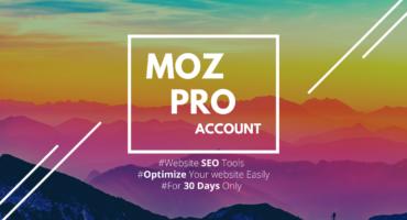 MOZ Pro 01মাসের জন্য ফ্রি[Binning], Website (SEO) Ranking হবে রকেটের গতিতে