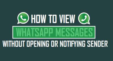 Message Seen না করেই Whatsapp এ যেভাবে বার্তা পড়বেন
